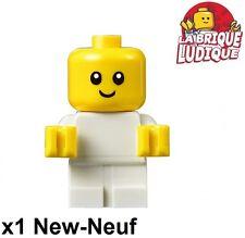 Lego - Figurine Minifig bébé baby small head petite tête blanc/white cty668 NEUF