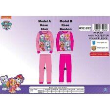 Model A = 4 ans Rose CLAIR * Pyjama polaire Pat Patrouille * NEUF l'unité