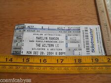 Marilyn Manson 2004 concert Ticket The Wiltern Los Angeles