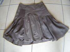 Jupe One Step au genou large basque plis creux bas surpiqué + pan bloomer  T 38