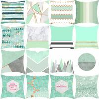 HN- Mint Green Series Pillow Case Sofa Waist Throw Cushion CoverHome Decor Mys