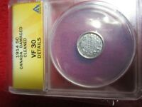 1914 Canada 5 Cent ANACS VF30 DETAILS