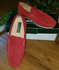 Men's Masimo New York Austin Red Suede Genuine Leather Upper Slip-On Loafer 9 M