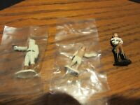 Three 1982 Kenner Diecast Star Wars Micro Figures two new in package