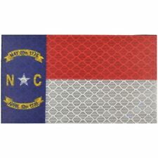 Reflective North Carolina State Flag - 2x3.5 Patch
