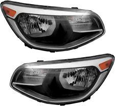 Halogen Headlights Headlight Assembly w/Bulb Pair Set NEW for 14-16 Kia Soul