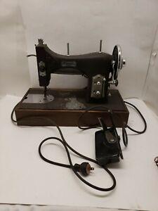 Vintage Domestic Rotary Sewing Machine 153 Dark Brown W/Pedal