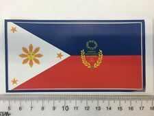 First Philippine Republic flag June 12, 1898 flag sticker peel off vinyl