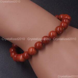 Handmade 10mm Mixed Natural Gemstone Round Beads Stretchy Bracelet Healing Reiki