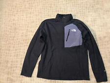 THE NORTH FACE TECH 100 1/2 ZIP TNF BLACK SZ LARGE NWT