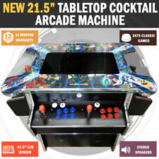 "21.5"" Tabletop Cocktail Arcade Machine LCD Display With 2475 Games Pacman"