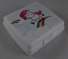 Tupperware A 126 Sandwichbox Lunchbox Dose Box Einhorn Weiß / Bunt Neu OVP