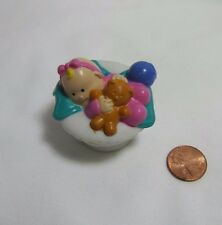 Fisher Price Little People INFANT BABY for Dollhouse w/ TEDDY BEAR TOY BALL #2
