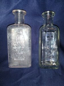 Owl Drug Company San Francisco Medicine Bottles, One Wing, Two Wing