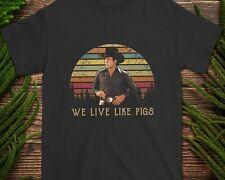We Live Like Pigs Urban Cowboy John Travolta Vintage Retro T-Shirt Unisex S-3XL
