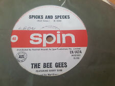 SPICKS AND SPECKS // BEE GEES OZ POP SPIN 1966