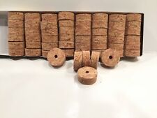 """Cork Rings 12 River Series Burl Red 1 1/4"""" x 1/2"""" x 1/4"""" Hole"""