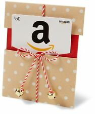 Amazon.com Gift Card in a Kraft Paper Reveal with Jingle Bells Kraft Reveal 50