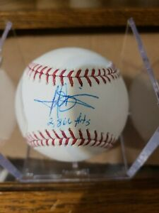 Harold Baines autographed baseball HoF