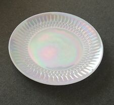 Federal Glass Luster Iridescent Opalescent Diamond Point Moonglow Dinner Plate