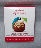 2016 HALLMARK KEEPSAKE MINIATURE ORNAMENTS LITTLE CUP OF HAPPY, NEW IN BOX