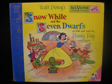 SNOW WHITE AND THE SEVEN DWARFS RCA Y-33 LITTLE NIPPER SERIES 78 RPM-2 Records