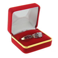 Two White Faux Leather Ring Jewelry Gift Box