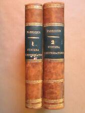 FABRICIUS : SYSTEMA ELEUTHERATORUM, 1801/1802 (Coléoptères) en 2 volumes.
