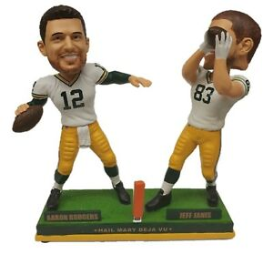 Aaron Rodgers to Jeff Janis Green Bay Packers Hail Mary Dual Bobblehead