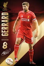Steven Gerrard FINAL SEASON SIGNATURE SERIES Liverpool FC Soccer Action POSTER