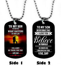 DOG TAG NECKLACE - A Father's Gift to his Son #1 prayer love jewelry