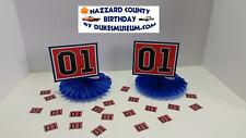 DUKES OF HAZZARD-  HAZZARD COUNTY BIRTHDAY DECORATIONS- 01 SIDE FANS CONFETTI