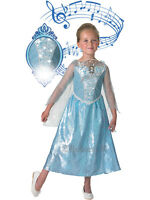 GENUINE DISNEY Frozen Elsa Musical Light Up Snow Princess Fancy Dress Costume