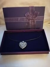 Tibetan Silver Heart Necklace & Gift Box NEW