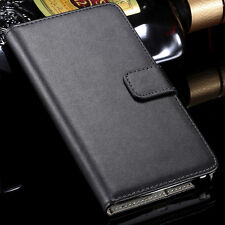 Luxury Real Leather Case Cover Flip Samsung A3 2016 + Screen Protector