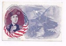 Antique udb Patriotic Military Post card America's First Navel Hero John P Jones