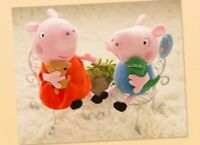"10"" SET OF 2 pcs of Peppa Pig and George Soft Stuffed Plush Cute toy kids gift"