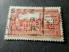 Algeria 1936, Stamp 112 Drilled', Obliterated VF Used Perfin Stamp