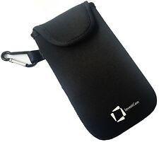 Genuino Inventcase negro bolsa neopreno funda para Samsung Galaxy S6 2015