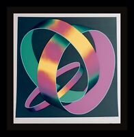 Jack Brusca Whisper Theme A Trilogy Hand Sig & Numbered Abstract Silkscreen ART
