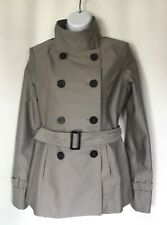NEW ONLY Women Girls Short Trench Coat+Capelet +Belt, Double Breasted, Size S/M