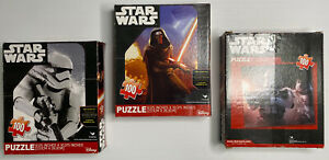 Star Wars Puzzles x3 NEW Sealed Packets The Force Awakens Kylo Ren Storm Trooper