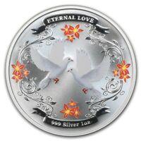 2011 Niue -  Eternal Love 1 oz Silver $2 Proof