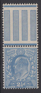 SG 284 2 1/2d Pale Dull Blue M18 (-) Double Gum in P.O. fresh Unmounted Mint .