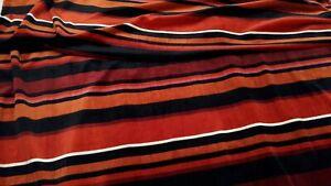 Black/Gold/Bronze/Wine/Cream  Striped Stretch Velvet Fabric W 158 cm x L 69 cm