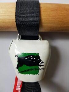 Swisstrailbell Fahrradklingel BlackForest Edition weiß/grün: Be Wild, Trailbell