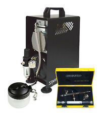Professional Airbrushing Kit - Silverline 2 in 1 Airbrush & Sparmax Compressor