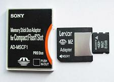 sony 8GB M2 Card MS card adapter To Type II CompactFlash CF Card Adapter convert