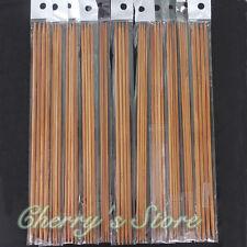 44Pcs 11sizes 10'' 25cm Double Pointed Carbonized Bamboo Knitting Needles
