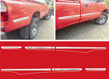 Toyota hilux 2.4 turbo diesel pick up side graphique rayures decals stickers
